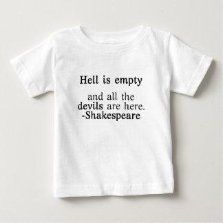 Hölle ist leeres Shakespeare-Zitat Baby T-shirt