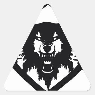 Hollowsquad Dreieckiger Aufkleber