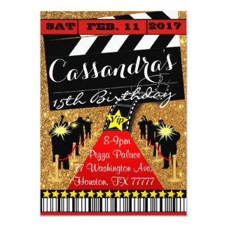 Hollywood-Party, Hollywood-Geburtstags-Einladung 12,7 X 17,8 Cm Einladungskarte
