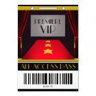 Hollywood-Premiere VIP-Geburtstags-Party Karte