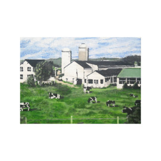 Holstein-Molkerei Leinwanddruck