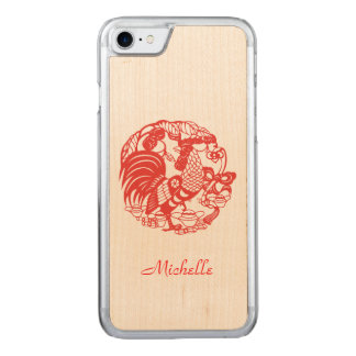 Holz Iphone des Hahn-Jahr-2017 Carved iPhone 8/7 Hülle