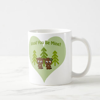 Holz sind Sie Bergwerk-Biber-Paare Tasse