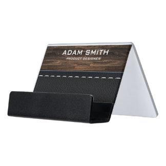 Holz-u. Leder-Blick-berufliches modernes besonders Schreibtisch-Visitenkartenhalter