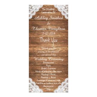 Hölzerne Hochzeits-Programme rustikale Vintage Werbekarten