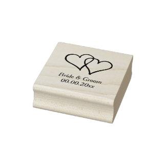 Hölzerne Kunst-Hochzeits-Briefmarke mit ineinander Gummistempel