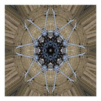 Hölzerne Mandala… Poster