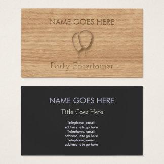"""""""Hölzerne"""" Party-Entertainer-Geschäfts-Karten Visitenkarte"""