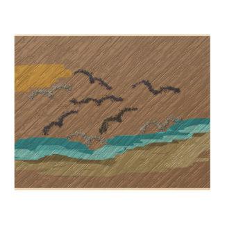 Hölzerne Wand-Kunst Holzdrucke