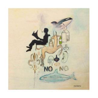 Hölzerne Wandkunst des Freiheits-Schwertwals Holzleinwand