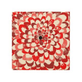 Hölzerner Druck der Roten Rose Holzdrucke