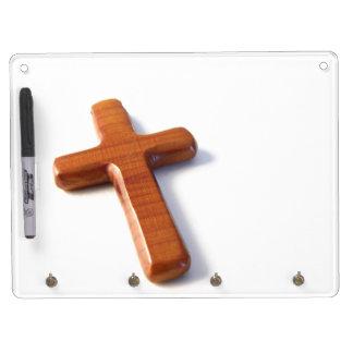 Hölzernes Kreuz Trockenlöschtafel Mit Schlüsselanhängern