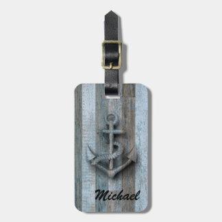 Hölzernes personalisiertes des Vintagen noblen Kofferanhänger