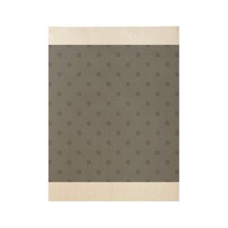 Hölzernes Plakat mit dunklen Punkten Holzposter