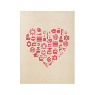Hölzernes Plakat: mit Wellness Illustration Holzposter