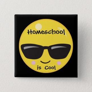 Homeschool ist cool quadratischer button 5,1 cm