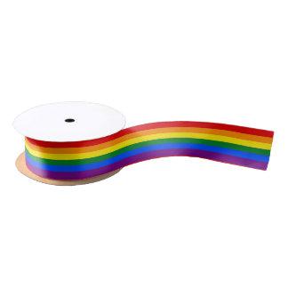 """Homosexuelle Flagge färbt Regenbogen 1,5"""" Satinband"""