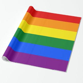 Homosexuelle Flagge färbt Regenbogen-breiten Geschenkpapier