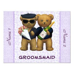 Schön Homosexuelle Hochzeit   Groomsmaid   Teddybären Einladung