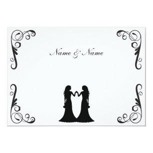 Homosexuelle Hochzeit Laden   Zwei Schwarzweiss Einladung