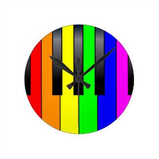 Homosexuelle Klavier-Schlüssel Transportes Runde Wanduhr
