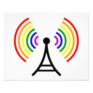 Homosexuelle WiFi-Regenbogen-Signal-Antenne 11,4 X 14,2 Cm Flyer