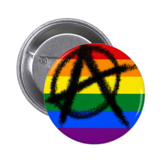 homosexueller Anarchieknopf des Regenbogens Runder Button 5,1 Cm