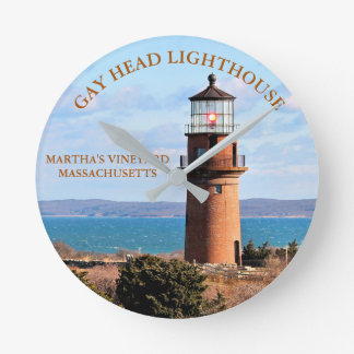 Homosexueller Hauptleuchtturm, Massachusetts-Uhr Runde Wanduhr