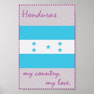 Honduras mein Land meine Liebe Poster