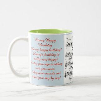 Honig-alles Gute zum Geburtstag mit einem Zweifarbige Tasse