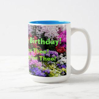 Honig-alles Gute zum Geburtstag! Zweifarbige Tasse