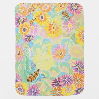 Honig-Biene glücklich! Babydecke durch Packwagen