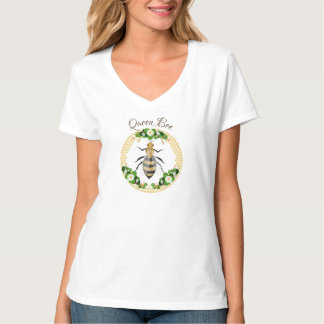 Honig-Bienen-Bienenwaben-Blumen botanisch T-Shirt