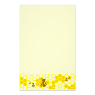 Honig-Bienen-Gelb-Bienenwaben-Briefpapier Personalisiertes Büropapier