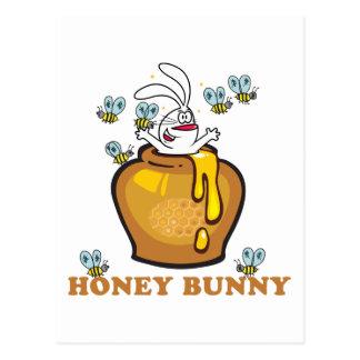 Honig-Häschen Ostern Postkarte