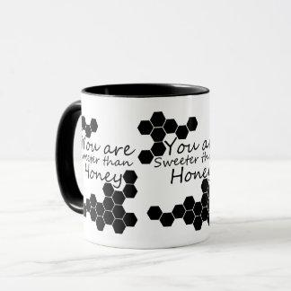 Honig-Thema mit positiven Wörtern Tasse