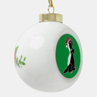 Honigdachs Weihnachten Keramik Kugel-Ornament