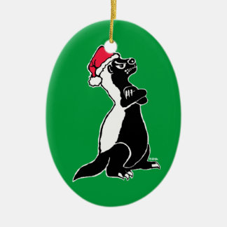 Honigdachs Weihnachten Keramik Ornament