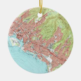 Honolulu Hawaii Map (1983) Keramik Ornament
