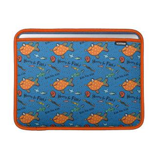 Hooray für Fisch-Muster MacBook Air Sleeve