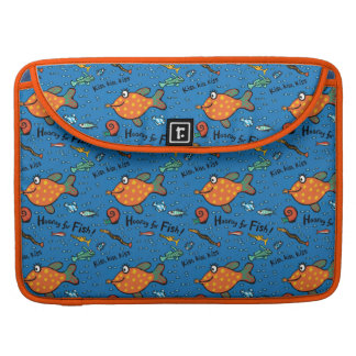 Hooray für Fisch-Muster Sleeve Für MacBooks