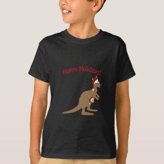 Hopfenreiche Feiertage! Weihnachtenkänguruh T-Shirt