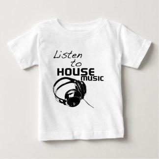 Hören Sie Haus-Musik Baby T-shirt