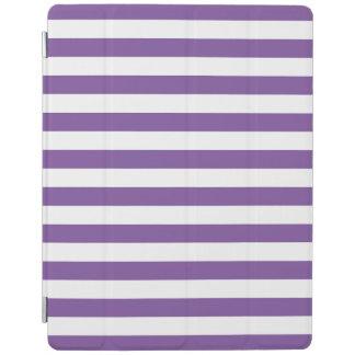 Horizontale lila Streifen iPad Smart Cover