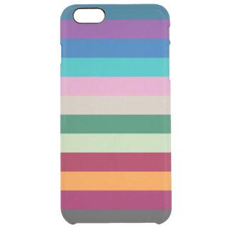 Horizontale Streifen in den Herbstfarben Durchsichtige iPhone 6 Plus Hülle
