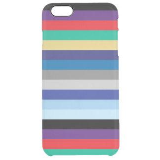 Horizontale Streifen in den Winter-Farben Durchsichtige iPhone 6 Plus Hülle