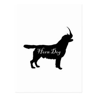 Horn-Hund Postkarte
