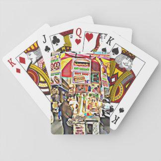 Hotdog-Stand-Foto-Karten New York City Pokerkarten