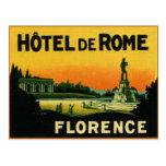 HOTEL DeROME Florenz Italien Postkarte