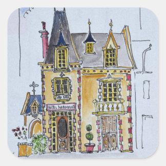 Hotel Normandie | Coburg, Frankreich Quadratischer Aufkleber